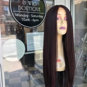 Accessories - Long burgundy Swisslace Lacefront wig
